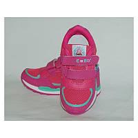 Кроссовки для девочки, Спортивная обувь, липучка, розовые, легкие, сетка, летние, кросовки, без шнурков