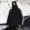Зимняя мужская парка Adidas Originals черная - Фото