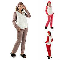Р 42-48 Махровая пижама с повязкой 20598, фото 1