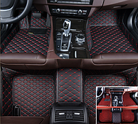 Автомобильные коврики 3D с бортиками кожаные 2в1 + коврик антигрязь для KIA Sportage 2016 2017 2018 2019