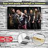 Картина на холсте Американская грув-метал-группа Файв Фингер Дез Панч Five Finger Death Punch 60х40