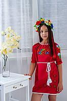 Плаття для дівчинки Червоний Мак червоне