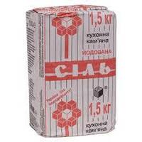 Соль пищевая йодированная по 1,5 кг (упаковк.10 шт)