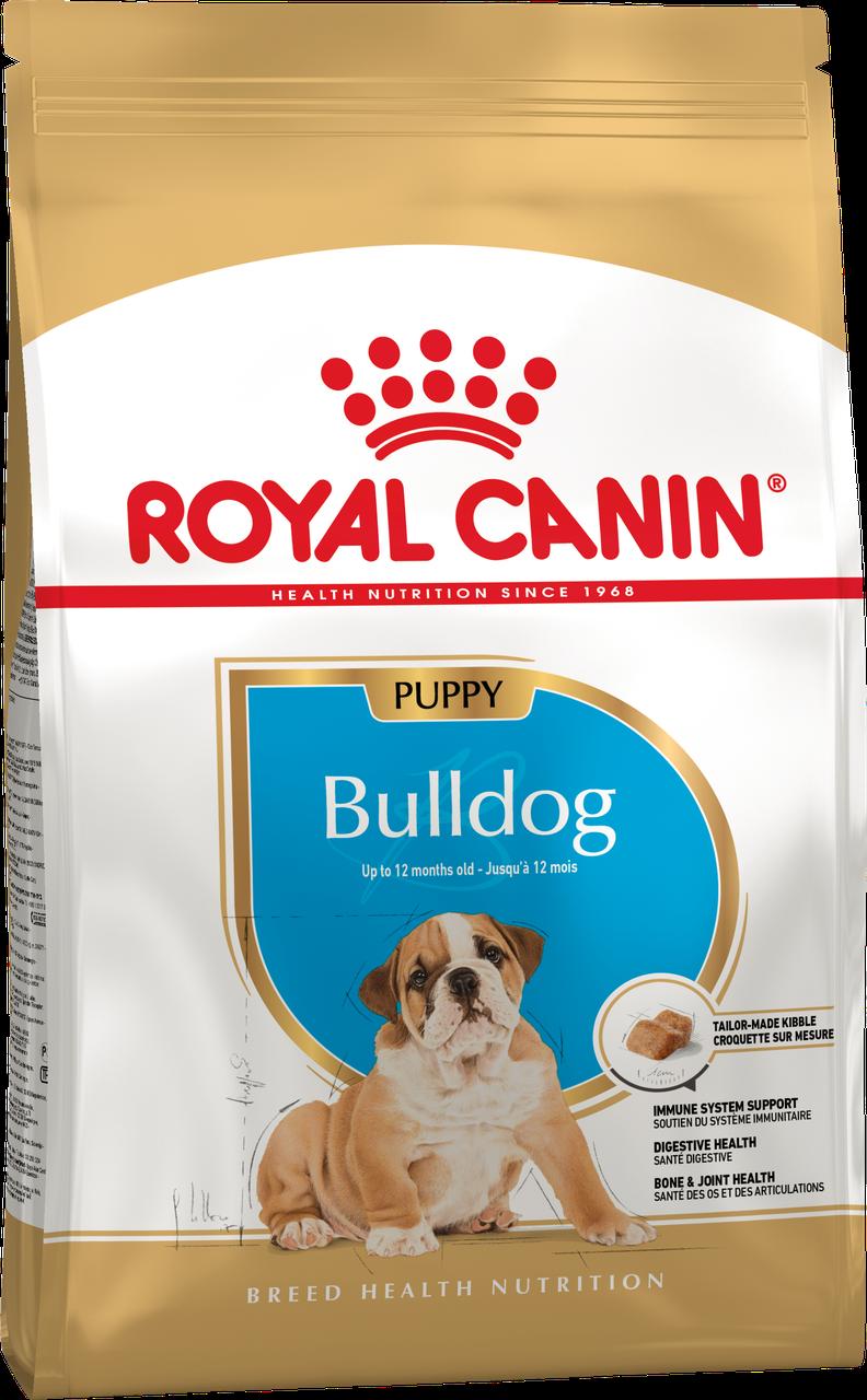 Сухой корм Royal Canin Bulldog Junior для щенков, 12КГ