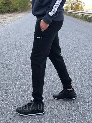 Мужские зимние штаны Fila черные реплика, фото 2