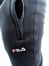 Мужские зимние штаны Fila черные реплика, фото 3