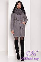Женское зимнее пальто с хомутом и поясом (р. S, М, L) арт. С-84-06/44633