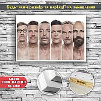 Картина посте на холсте Солисты группы Рамштайн Rammstein 60х40