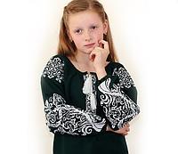 Цветная вышиванка для девочки с орнаментом