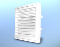Решетка вентиляционная настенная, квадратная, пластиковая DOSPEL KR Ø100/125