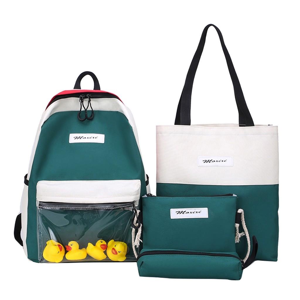 Молодёжный рюкзак набор 3 в1 с жёлтыми уточками.