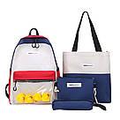 Молодёжный рюкзак набор 3 в1 с жёлтыми уточками., фото 3