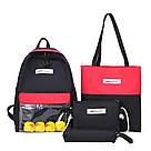 Молодёжный рюкзак набор 3 в1 с жёлтыми уточками., фото 8