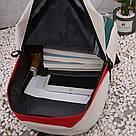 Молодёжный рюкзак набор 3 в1 с жёлтыми уточками., фото 10