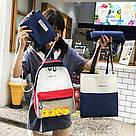 Молодёжный рюкзак набор 3 в1 с жёлтыми уточками., фото 7