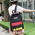 Молодёжный рюкзак набор 3 в1 с жёлтыми уточками., фото 9