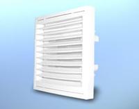 Решетка вентиляционная настенная, квадратная, пластиковая DOSPEL KR Ø150