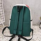 Молодёжный рюкзак набор 3 в1 с жёлтыми уточками., фото 4