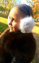 Детские меховые наушники, шапки и рукавицы