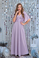 """Длинное вечернее платье """"Дорина"""" с люрексом и гипюром (5 цветов)"""