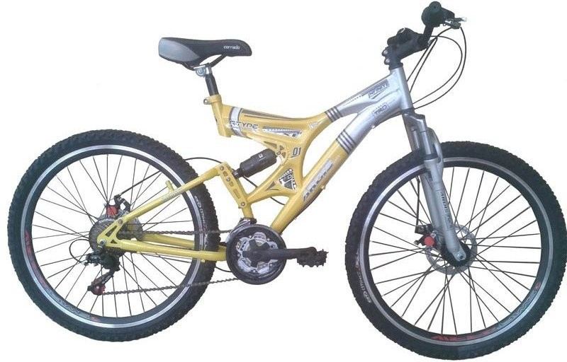 """Велосипед ARDIS INFINITY AMT 26"""" колесо 19"""" рама Серый/Желтый"""