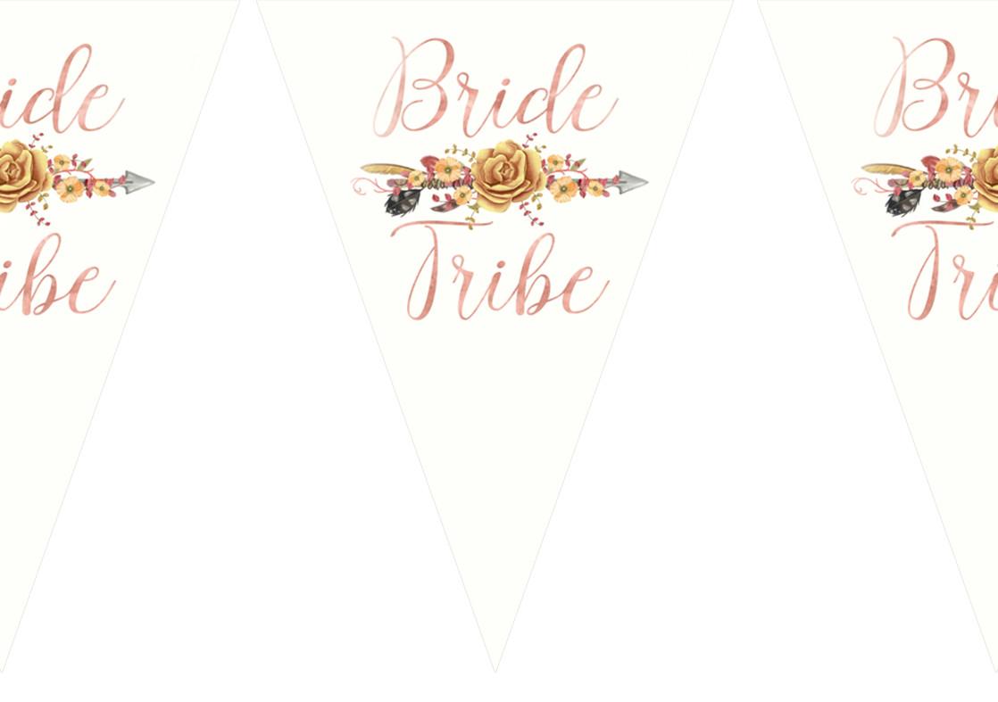 """Гирлянды бумажные """"Bride tribe"""" байд"""