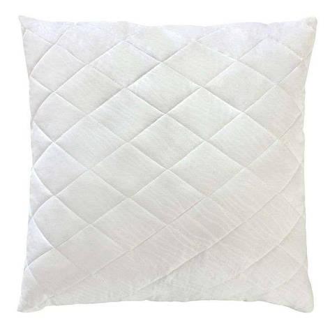 Белая стеганая подушка из бамбукового волокна на замке 70х70 T-54803, фото 2