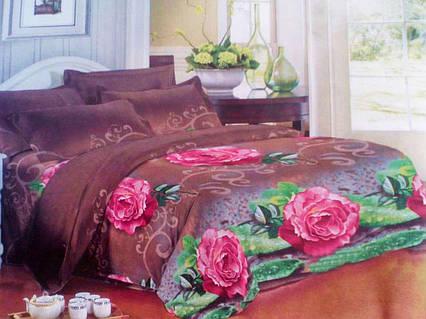 Комплект постельного белья от украинского производителя Polycotton Двуспальный T-90907, фото 2