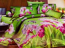 Комплект постельного белья от украинского производителя Polycotton Двуспальный T-90907, фото 3