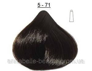 Стойкая крем-краска DUCASTEL Subtil Creme 5-71 - светло-каштановый пепельный, 60 мл