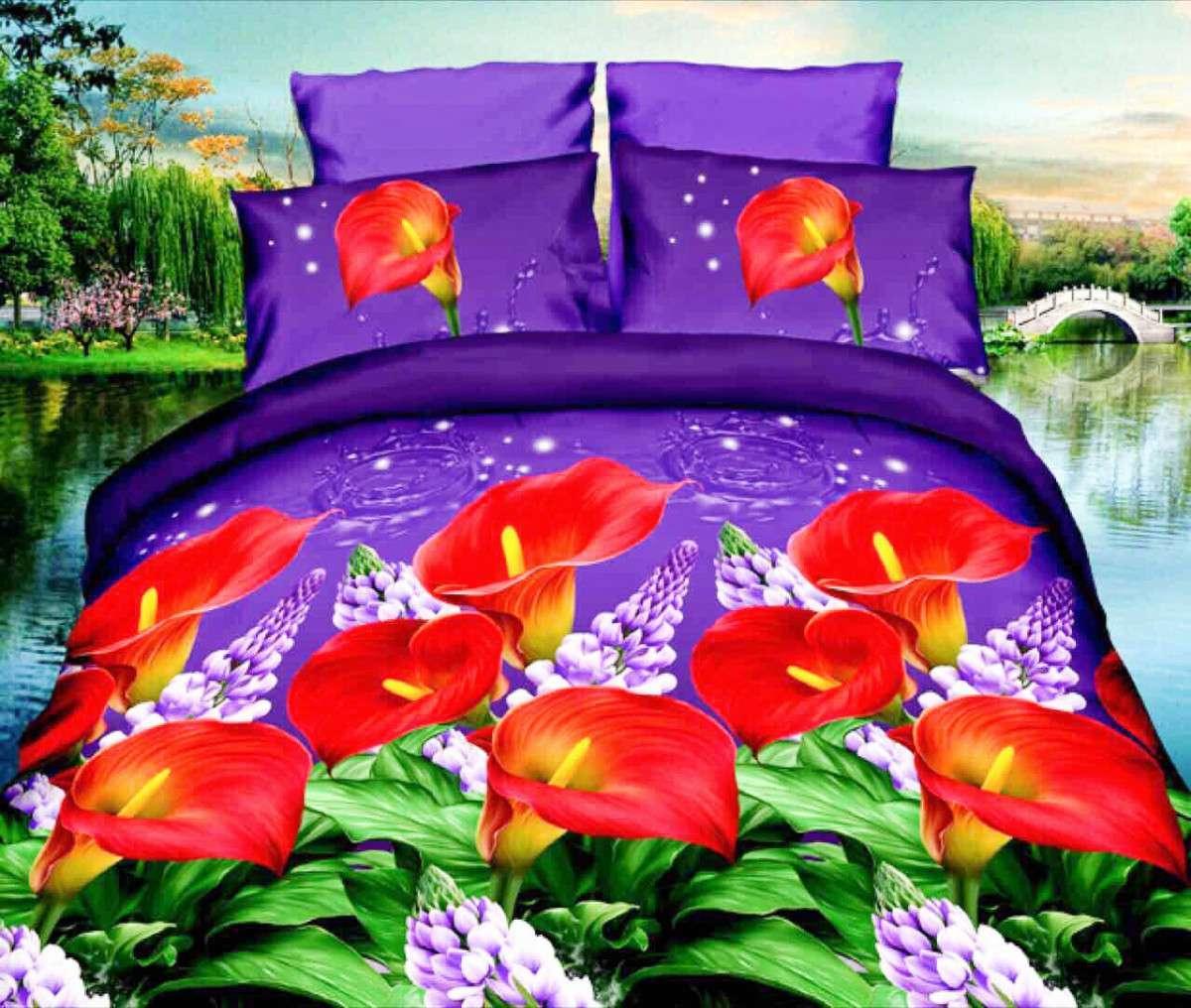 Комплект постельного белья от украинского производителя Polycotton Двуспальный T-90921