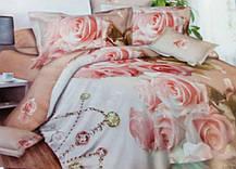 Комплект постельного белья от украинского производителя Polycotton Двуспальный T-90921, фото 3