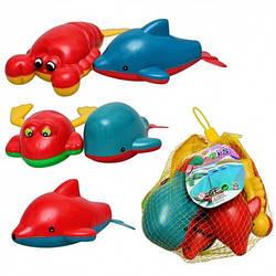 Детская игрушка водоплавающая M0979 заводная, набор