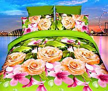 Комплект постельного белья от украинского производителя Polycotton Полуторный T-90947, фото 3