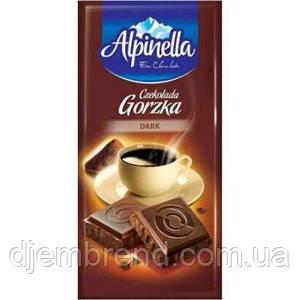 """Шоколад """"Alpinella Dark"""" (Альпинелла чёрный шоколад), Польша, 90г"""