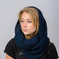 Вязанный снуд-хомут Ажур Nord Синий wsnazh02, КОД: 390854