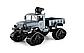 Радіокерований всюдихід вантажівка на гусеницях з відеокамерою FY001B Чорний, фото 3