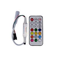 Контроллер RGB PIXEL Led strip 6А IR 7-12V (ДУ 21 кнопка) с коннектором