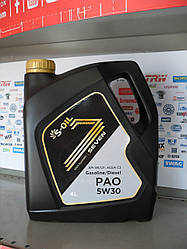 Моторное масло S-oil seven pao 5w30