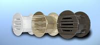 Решетка дверная, втулка пластиковая DOSPEL RD 40 (серебро)