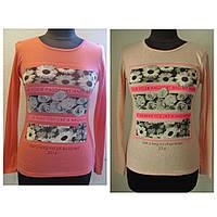 Джемпер женский, для подростка, из тонкой легкой ткни, для весны или осени, два цвета р.42-44, код 1137М
