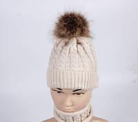 Шапка хомут детская демисезонная теплая зима  весна шапка дитяча демісезонна весна