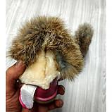 Сапожки детские зимние с  малиновые опушкой Размер: 25-30, фото 5