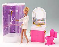 Мебель для куклы Ванная комната Gloria 98020
