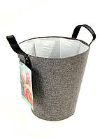 M18-370650, Тканевая корзина для цветов, , серый-черный