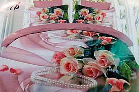 Комплект постельного белья от украинского производителя Polycotton Полуторный T-90951, фото 3