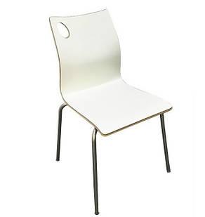 Штабелируемый стул Хорека-W, гнутая фанера, цвет белый (Бесплатная доставка)