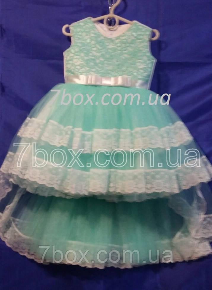 Детское платье бальное Канкан 3-4 года Мята Опт и Розница
