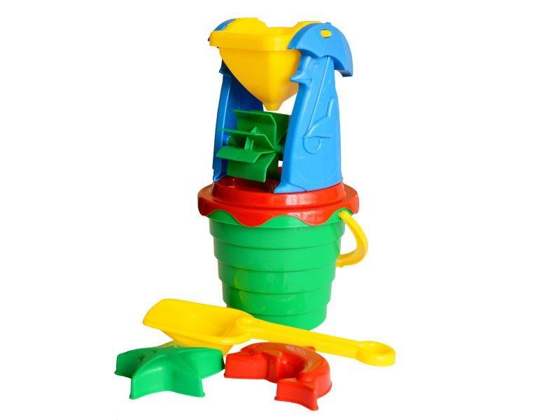 """Детская игрушка для песка """"Мельница 4"""" 1370 ТМ Технок"""