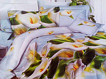 Комплект постельного белья от украинского производителя Polycotton Полуторный T-90965, фото 2